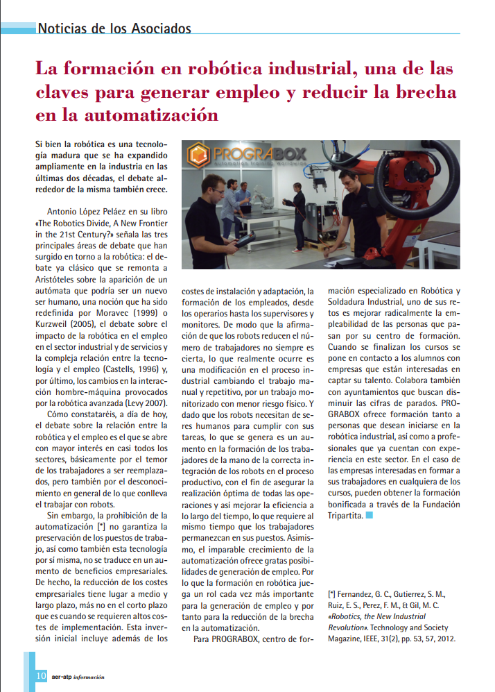 formacion robotica industrial AERATP